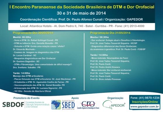 Evento SBDOF sobre Dor Orofacial em Maio!
